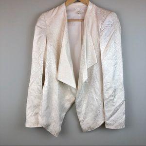 Helmut Lang Draped Brocade Lace Print Blazer